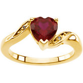 Ring Mounting for Heart-Shape Gemstone