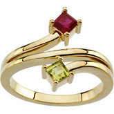Ring Mounting Princess - Cut Gemstones