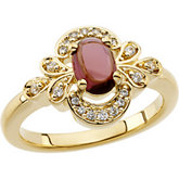 Vintage Style Ring Mounting for Gemstones