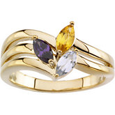 Ring Mounting for Marquise Shape Gemstones