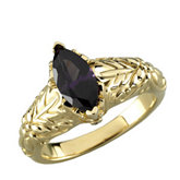 Vintage-Style Design Ring Mounting for Marquise Shape Gemstone