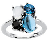 Multiple Stone Color Fashion Ring Mounting