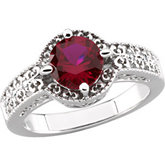 Vintage-Style Design Ring Mounting for Round Gemstone
