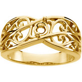 Filigree Ring Mounting for Mother