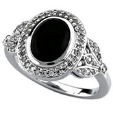 Vintage-Style Design Ring Mounting for Oval Gemstone and Diamonds