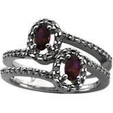 Micro Prong Set Ring Mounting for Gemstones with Oval Center