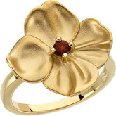 Floral Ring Mounting for Round Gemstone