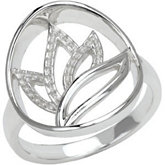 Floral Design Ring Mounting