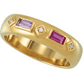Baguette Stone Ring for Mothers