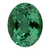 Oval Genuine Green Tourmaline (Black Box)