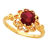 Scroll Design Ring Mounting for Round Gemstone Solitaire
