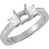 Three-Stone Engagement Ring or Matching Band