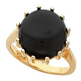 Ring Mounting Base for Round Cabochon, Coin, or Cluster Top