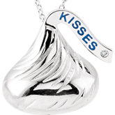 HERSHEY'S KISSES Flat Back Diamond Accented Necklace