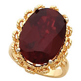 Ring Mounting for Oval Cabochon Gemstone Solitaire