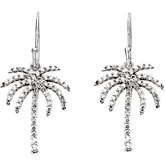 1/2 ct tw Diamond Palm Tree Earrings