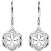 1/6 ct tw Diamond Lever Back Earrings