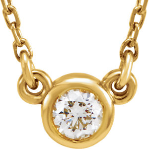 "14K Yellow 1/4 CTW Diamond 18"" Necklace"