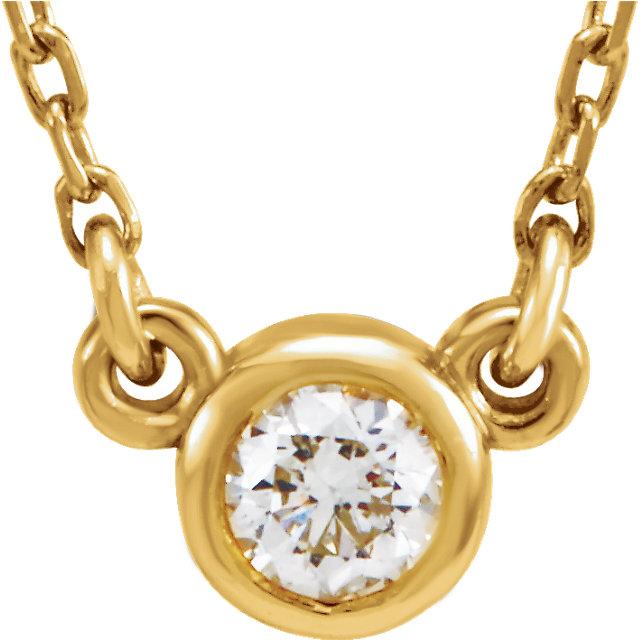 14K Yellow 1/10 CTW Diamond 18