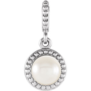 Freshwater Cultured Pearl Pendant or Mounting
