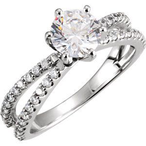 Diamond Engagement Ring or Semi-Mount