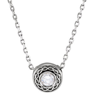 Diamond Slide Necklace or Pendant Mounting