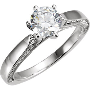 Diamond Sculptural Engagement Ring, Base or Matching Band