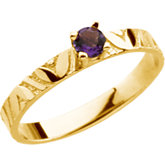 Youth Genuine Birthstone Ring