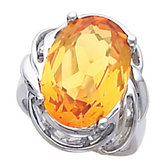 Ring for Oval Shape Gemstone