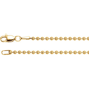 Hollow Bead Chain 1.8mm