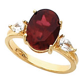 Ring Mounting for Oval Gemstone