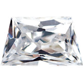 Trapezoid Lab Created White Cubic Zirconia