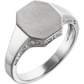 Men's Scroll Signet Ring