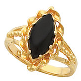 Ring Mounting for Marquise Shape Cabochon Stone