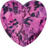 Heart Lab Created Pink Sapphire