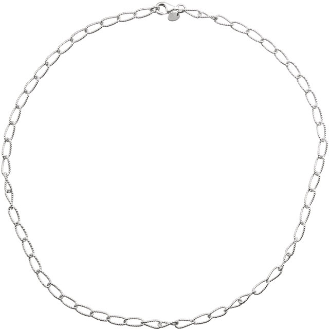 Sterling Silver 4.5mm Knurled Cable 7