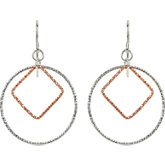 Geometric-Inspired Dangle Earrings