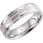 Design 6mm Diamond Band