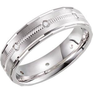 Design 6mm 1/6 CTW Diamond Band Size 10