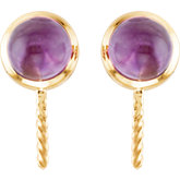 Genuine Amethyst Semi-mount Earrings