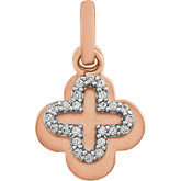 Diamond Two-Tone Clover Pendant