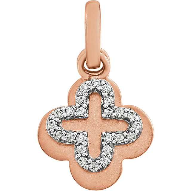 14K Rose 1/10 CTW Diamond Pendant