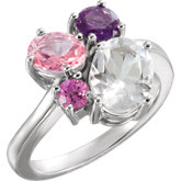 Gemstone Multi-Shape Cluster Ring or Mounting