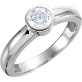Bezel Set Engagement Ring or Mounting