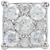 Square Shape Diamond Cluster Peg Setting