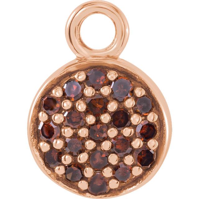 14K Rose 1/10 CTW Brown Diamond Dangle