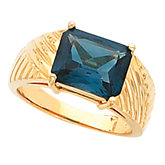 Ring Mounting for Emerald Shape Gemstone Solitaire