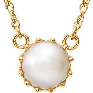 Freshwater Cultured Pearl Crown Necklace or Mounting