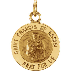 Round St. Francis of Assisi Medal