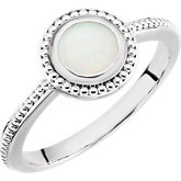 Beaded Cabochon Ring